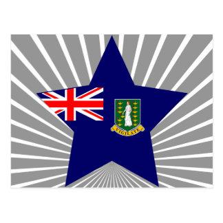 Britannique+Vierge+Étoile d'îles Cartes Postales