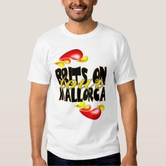 Britanniques sur le T-shirt de Majorque de visite