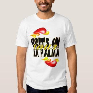 Britanniques sur le T-shirt de Palma de La de