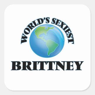 Brittney le plus sexy du monde autocollant carré