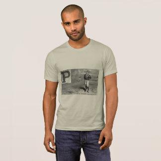 Broc initial de cru de rime du joueur de baseball t-shirt