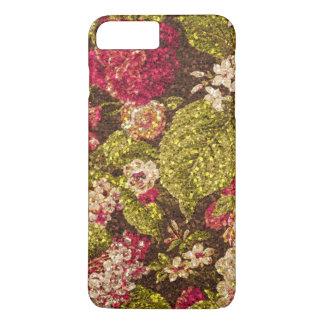 Brocard floral d'effet d'étincelle coque iPhone 7 plus
