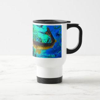 Brochets vairons de natation, art de poissons de mug de voyage