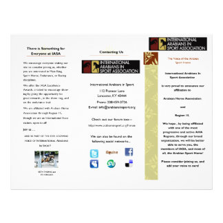 Brochure d'IASA Prospectus 21,6 Cm X 24,94 Cm
