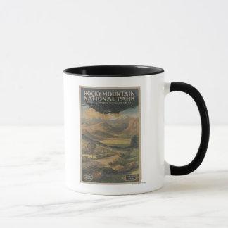 Brochure rocheuse de parc national de Mt. # 1 Mug