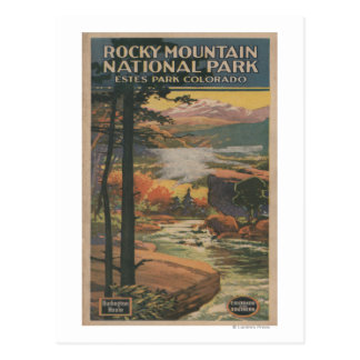 Brochure rocheuse de parc national de Mt. # 2 Carte Postale