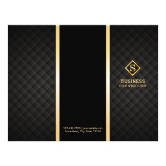 Brochures élégantes d'or de monogramme triple de prospectus 21,6 cm x 24,94 cm