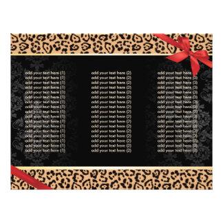 Brochures triples modernes d'empreinte de léopard prospectus 21,6 cm x 24,94 cm