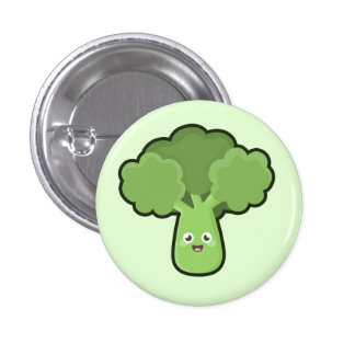 Brocoli de Kawaii Badge