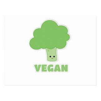 Brocoli végétalien carte postale