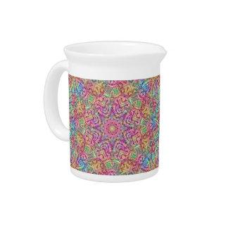 Brocs de porcelaine de kaléidoscope de couleurs de pichet