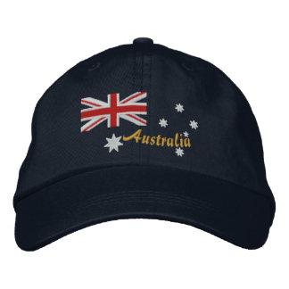 Broderie australienne classique de drapeau casquette brodée
