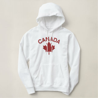 Broderie canadienne CANADA de feuille d'érable Pull À Capuche Brodé