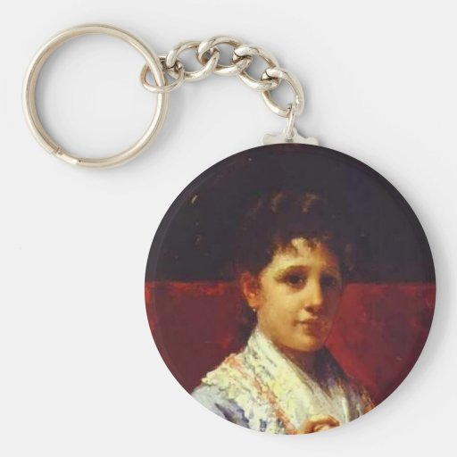Broderie de Mary Cassatt- Mary Ellison Porte-clef