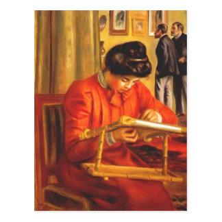 Broderie de Pierre Renoir- Christine Lerolle Carte Postale