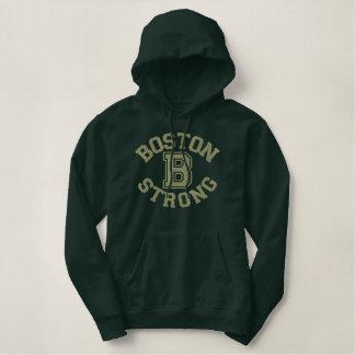 Broderie forte de Boston B Sweat-shirts À Capuche Brodés