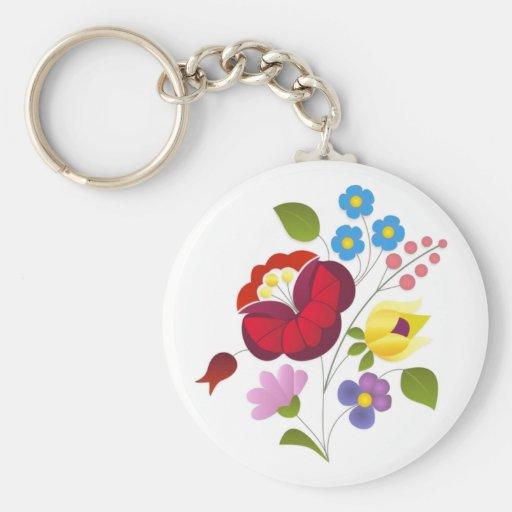 Broderie hongroise de fleur d'OPUS Porte-clefs