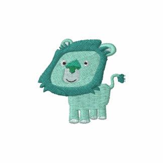 Broderie mignonne de lion de vert de bande dessiné