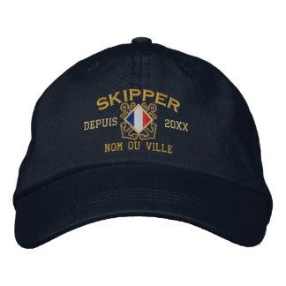 Broderie nautique personnalisée de capitaine casquette brodée