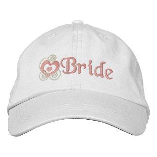 Broderie nuptiale de jeune mariée casquettes brodées