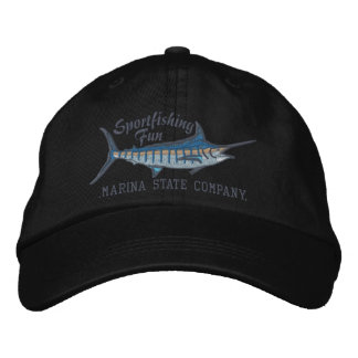 Broderie personnalisée de Marlin bleu de pêche Casquette Brodée