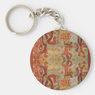 Broderie roumaine vintage conception traditionnel porte-clefs