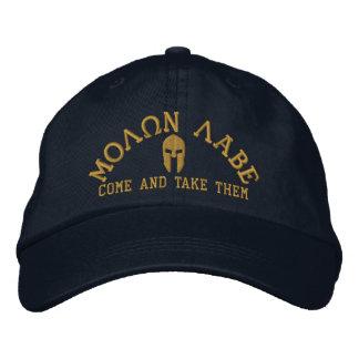 Broderie spartiate de casque de Molon Labe Casquette Brodée