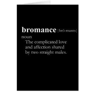 BROMANCE (définition) Carte De Vœux