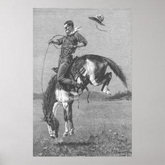 Bronco s opposant par Remington cowboys vintages
