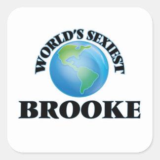 Brooke le plus sexy du monde stickers carrés