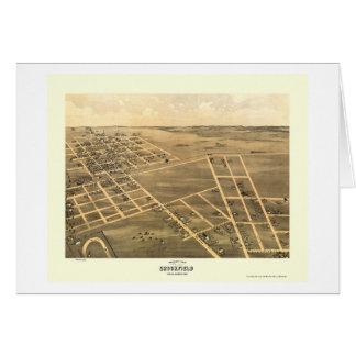Brookfield, carte panoramique de MOIS - 1869