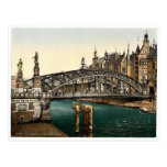 Brooksbridge, Hambourg, Allemagne Photochrom rare Cartes Postales