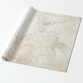 Brosses de marbre argentées grises roses blanches papier cadeau