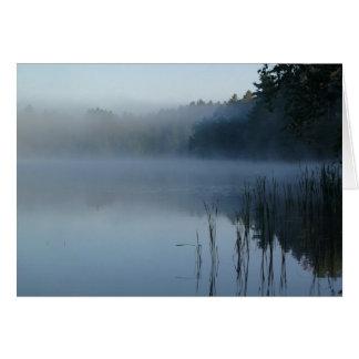 brouillard à la patte d'ours carte de vœux