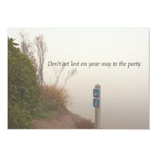 Brouillard à l'invitation de partie de rivage carton d'invitation  12,7 cm x 17,78 cm