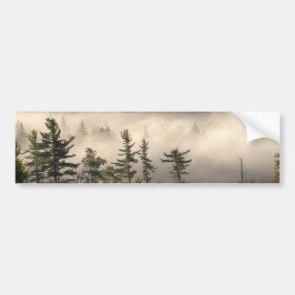 Brouillard de matin dans l'Adirondacks Autocollant De Voiture