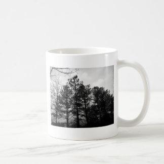 Brouillard hanté éthéré brumeux en bois de forêt mug