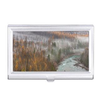 Brouillard Rolls dedans sur des arbres de mélèze Porte-cartes De Visite