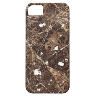 Brown à la mode et texture en pierre de marbre étui iPhone 5