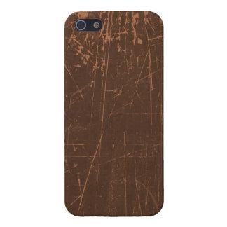 Brown a rayé la texture âgée et portée iPhone 5 case