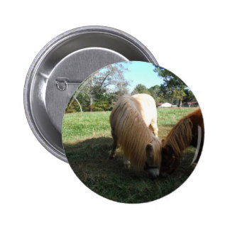 """Brown blond,"""" chevaux miniatures """" deux petits pon badge"""