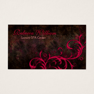 Brown élégant et carte rose de luxe de courbes