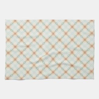 Brown en pastel et rétro motif bleu serviettes pour les mains