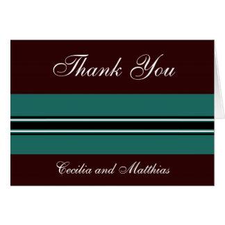 Brown et cartes turquoises de Merci