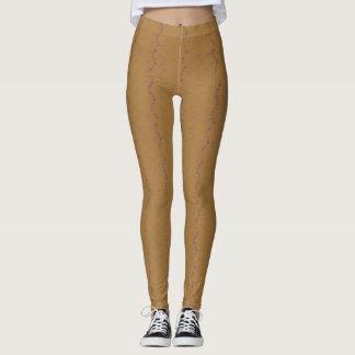 Brown et guêtres pourpres de gribouillis leggings