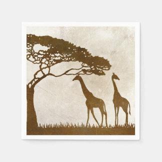 Brown et mariage africain en ivoire de girafe serviette jetable
