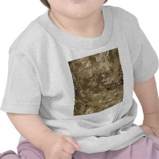 Brown et motif bronzage de Camo de nature de T-shirts