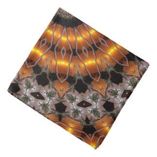 Brown et motif concentrique abstrait de pourpre bandana