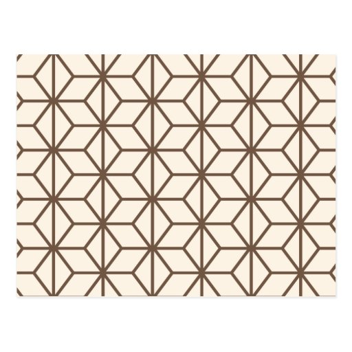 brown et motif g om trique beige d 39 art d co carte postale zazzle. Black Bedroom Furniture Sets. Home Design Ideas