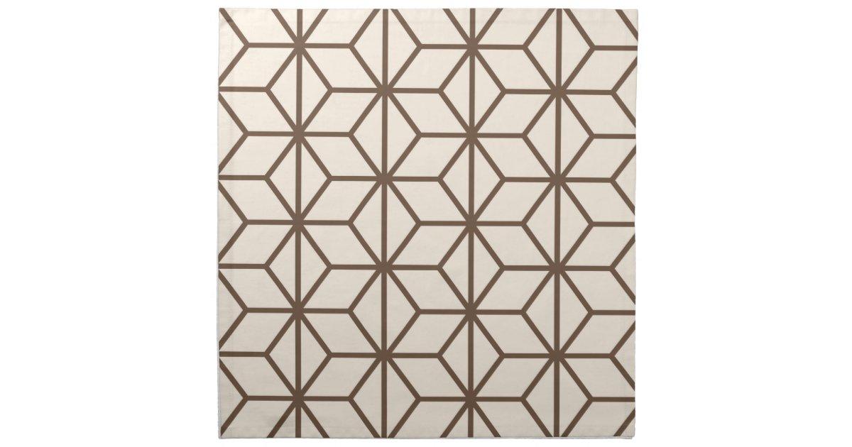 brown et motif g om trique beige d 39 art d co serviette imprim e zazzle. Black Bedroom Furniture Sets. Home Design Ideas